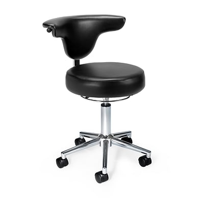 OFM Anti-Microbial Vinyl Anatomy Chair, Black