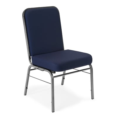 OFM Comfort Class Series Fabric Stack Chair, Navy, 4/Pack