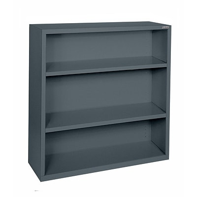 Sandusky® Elite 42H x 46W x 18D Steel Fully Adjustable Bookcase, Charcoal