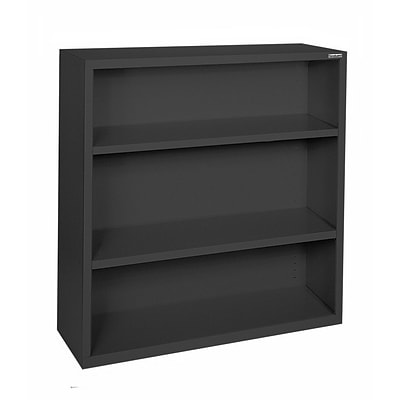 Sandusky® Elite 42H x 34 1/2W x 13D Steel Fully Adjustable Bookcase, Black