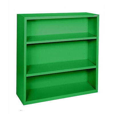 Sandusky® Elite 42H x 46W x 18D Steel Fully Adjustable Bookcase, Primary Green
