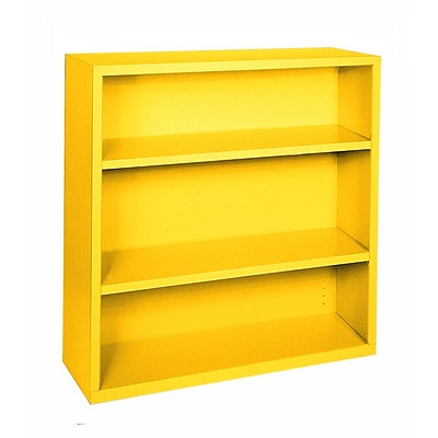 Sandusky® Elite 42H x 46W x 18D Steel Fully Adjustable Bookcase, Yellow