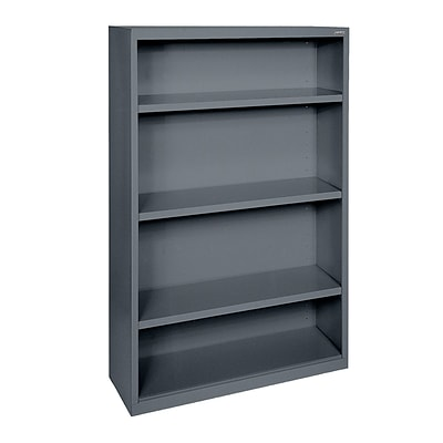 Sandusky® Elite 60H x 34W x 12D Steel Fully Adjustable Bookcase, Charcoal