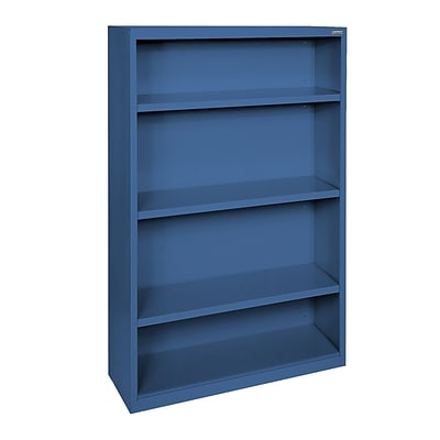 Sandusky® Elite 52H x 34W x 12D Steel Fully Adjustable Bookcase, Blue