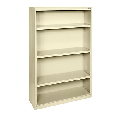 Sandusky® Elite 60H x 34W x 12D Steel Fully Adjustable Bookcase, Putty