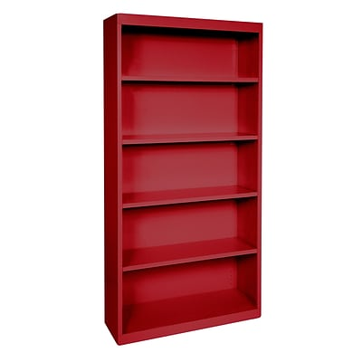 Sandusky® Elite 72H x 36W x 18D Steel Fully Adjustable Bookcase, Red