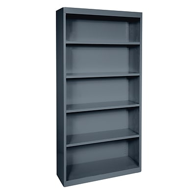 Sandusky® Elite 72H x 34W x 12D Steel Fully Adjustable Bookcase, Charcoal