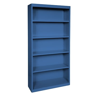 Sandusky® Elite 72H x 34W x 12D Steel Fully Adjustable Bookcase, Blue