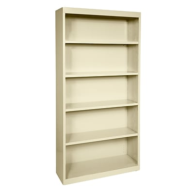 Sandusky® Elite 72H x 46W x 18D Steel Fully Adjustable Bookcase, Putty
