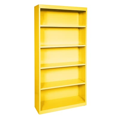 Sandusky® Elite 72H x 36W x 18D Steel Fully Adjustable Bookcase, Yellow
