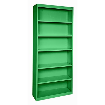 Sandusky® Elite 82H x 34W x 12D Steel Fully Adjustable Bookcase, Primary Green