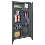 Sandusky® Classic Series 72H x 36W x 18D Steel Combination Storage Cabinet, Charcoal