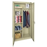 Sandusky® Classic Series 72H x 36W x 18D Steel Combination Storage Cabinet, Putty