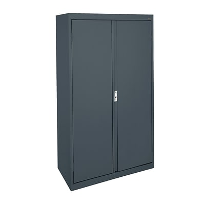 Sandusky® System Series 64H x 30W x 18D Steel Double Door Storage Cabinet, Charcoal