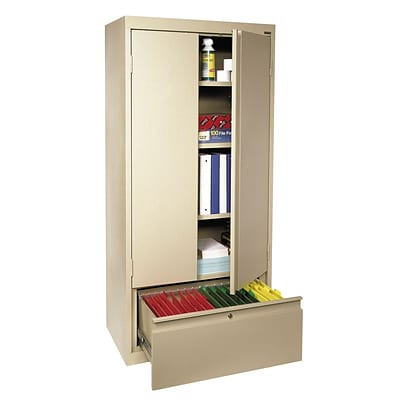 Sandusky® System Series 64H x 30W x 18D Steel Storage Cabinet, Putty