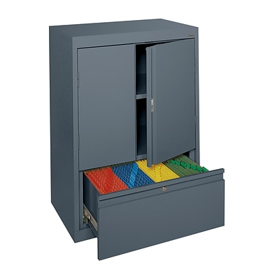 Sandusky® System Series HFDF301842-02 42H x 30W x 18D Steel Counter Height Storage, Charcoal