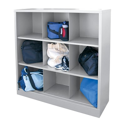 Sandusky® 52H x 46W x 18D Steel Cubby Storage Organizer, 9 Compartment,  Dove Gray