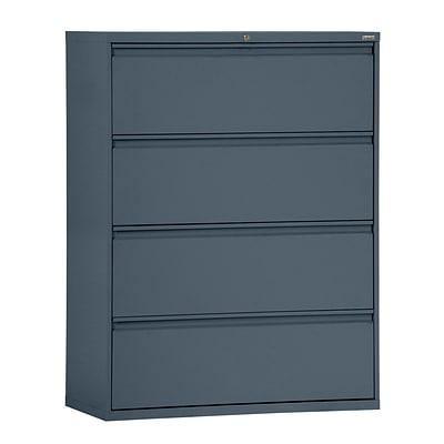 Sandusky® 800 Series 53 1/4H x 36W x 19 1/4D Steel Full Pull Lateral File, 4 Drawer, Charcoal