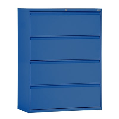 Sandusky® 800 Series 53 1/4H x 36W x 19 1/4D Steel Full Pull Lateral File, 4 Drawer, Blue