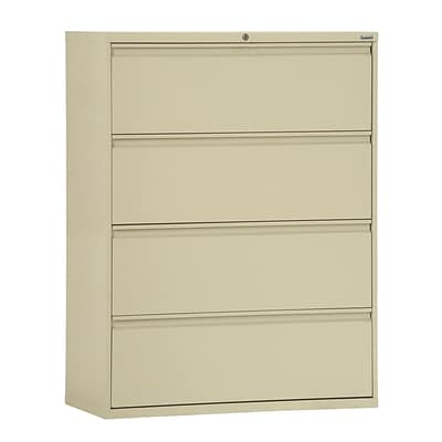 Sandusky® 800 Series 53 1/4H x 30W x 19 1/4D Steel Full Pull Lateral File, 4 Drawer, Putty