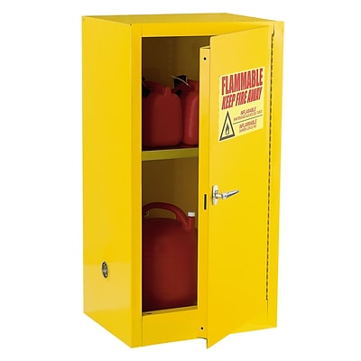 Sandusky Safety Cabinets for Flammable Materials, Compact, 12-Gallon Capacity, Yellow