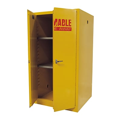 Sandusky Safety Cabinets for Flammable Materials, 60-Gallon Capacity, Yellow
