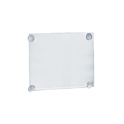 Azar® 14 x 11 Acrylic Sign Holder With Suction Cups, Clear, 2/Pack