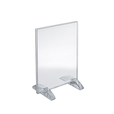 Azar® 10 x 8 Vertical/Horizontal Dual-Stand Acrylic Sign Holder, 10/Pack