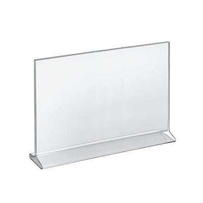 Azar® 11 x 14 Horizontal Top Load Acrylic Sign Holder, Clear, 10/Pack