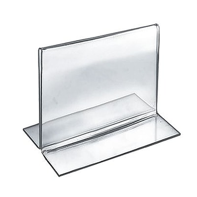 Azar® 4 x 5 Horizontal Double Sided Stand Up Acrylic Sign Holder, Clear, 10/Pack