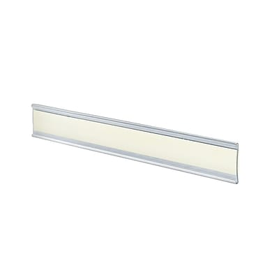 Azar® 1 1/2 x 8 1/2 Plastic Adhesive-Back C-Channel Nameplates, Clear, 10/Pack