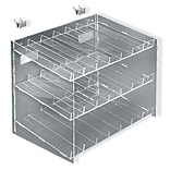 Azar® 3-Tier 21 Compartment Cosmetic Counter Display, 10 1/2(H) x 12(W) x 8(D)
