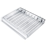 Azar® 9 Compartment Nail Polish Tray With Flip Front, 12(W) x 9 1/2(D), 2/Pk