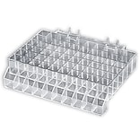 Azar® 2 1/2(H) x 10(W) x 7(D) 60 Compartment Lipstick Tray With Tester, 2/Pk