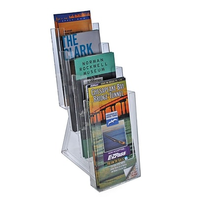 Azar® 4-Tier Tri-Fold Size Modular Brochure Holder For Counter, 2/Pack