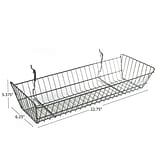 Azar® Wide Slanted Chrome Wire Basket, 5 3/8(H), 2/Pk