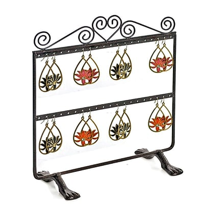 Azar® Double Sided 2 Rows Earring Display, Bronze
