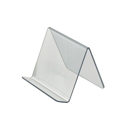 "Azar® 4 1/8""(H) x 5""(W) x 5""(D) Acrylic Easel Display, 10/Pack"
