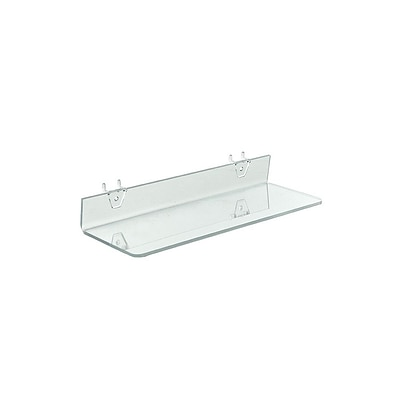 Azar® 16 x 4 Acrylic Shelf For Pegboard/Slatwall, Clear, 4/Pk