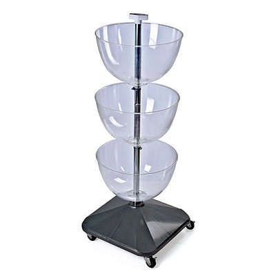 Azar® 10(D) x 16(Dia) 3-Tier Bowl Floor Display