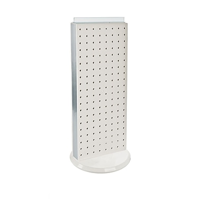 Azar® 20(H) x 8(W) 2-Sided Revolving Pegboard Counter Unit, White
