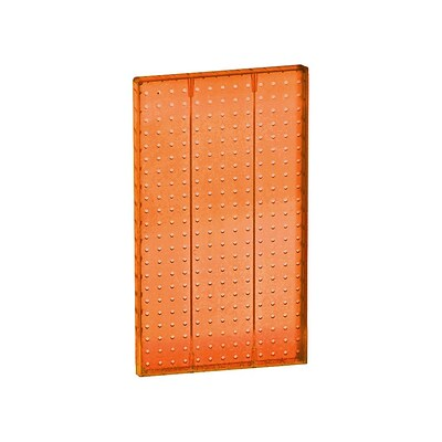 Azar® 22(H) x 13 1/2(W) Pegboard 1-Sided Wall Panel, Translucent Orange, 2/Pack
