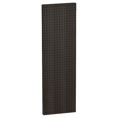Azar® 44(H) x 13 1/2(W) Pegboard 1-Sided Wall Panel, Solid Black, 2/Pack
