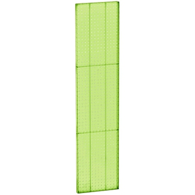 Azar® 60(H) x 13 1/2(W) Pegboard 1-Sided Wall Panel, Translucent Green, 2/Pack