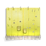 Azar® Pegboard Organizer Kit, Yellow Frosted