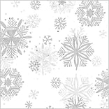 Shamrock 20 x 30 Diamond Snowflakes Printed Tissue Paper, 200/Pack