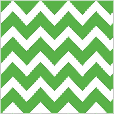Shamrock 20 x 30 Bold Chevron Printed Tissue Paper; Apple Green, 200/Pack