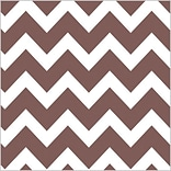 Shamrock 20 x 30 Bold Chevron Printed Tissue Paper; Chocolate, 200/Pack