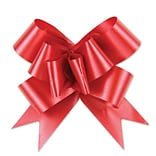 Shamrock Bow Magic® Splendorette® Butterfly 4(dia) Pull Bow With 38 Band Ribbon; Red, 100/Carton