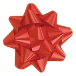 Shamrock 3 x 15 Loops Splendorette® Star Bows; Red, 200/Carton